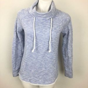Gap Light Blue White Funnel Neck Sweatshirt XS